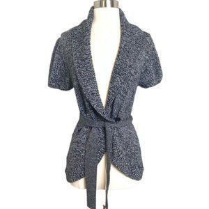 BCBGMAXAZRIA Wool Casual Tie Waist Cardigan Med